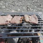 B6君火入れ式 炊飯と焼肉をして昼ごはんを食べる